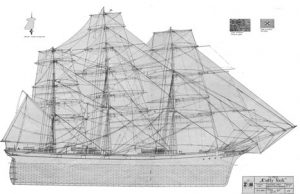 Cutty Sark clipper ship model plans