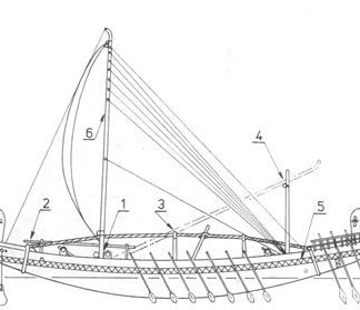 Egypt ancient ship model plans