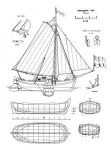 Holland Yacht ship model plans