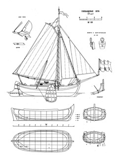 Holland Yacht ship model plans