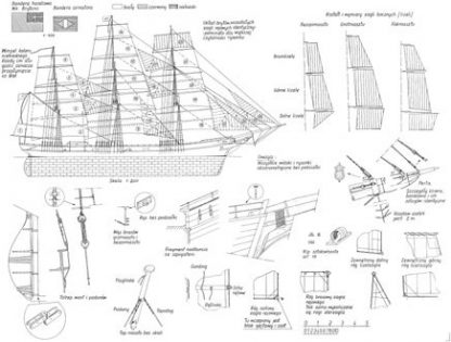 Clipper Ariel 1865 ship model plans