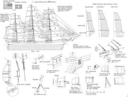 Clipper Ariel 1865 ship model plans