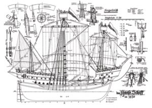 Hanse Schiff 1470 ship model plans