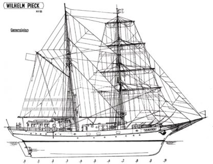 Wilhelm Pieck ship model plans