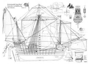 Christopher Columbus Nao Santa Maria ship model plans