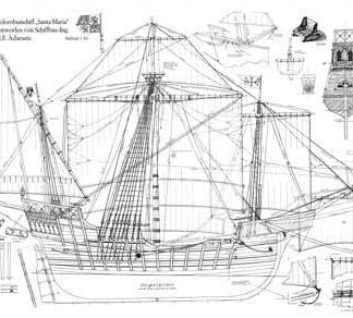 Christopher Columbus Nao Santa Maria ship model plans