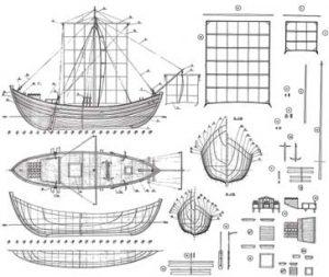 Byzantine ship model plans