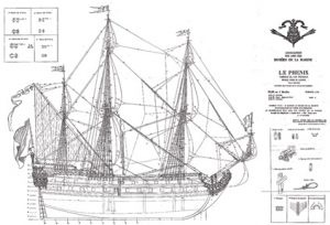 Le Phenix 1664-1669 ship model plans