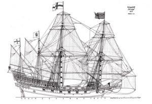 HMS Revenge 1577 ship model plans