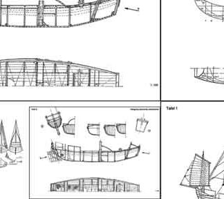 Vietnam Junk and Chinese Junk ship model plans