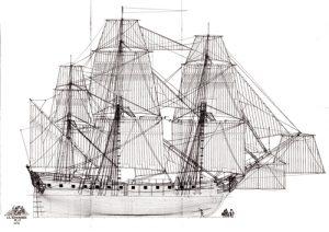 La Renommee 1744 ship model plans