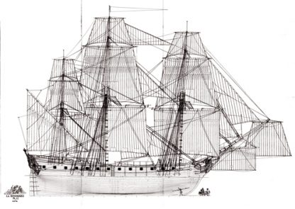 La Renommee 1744 ship model plans