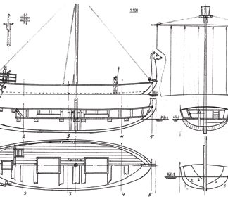 Phoenician trade ship 14 BC ship model plans