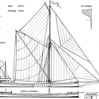 Balthasar sail boat ship model plans