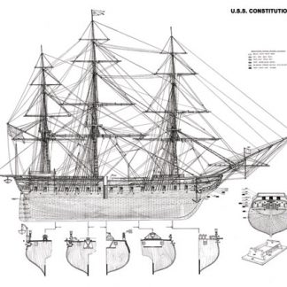 USS Constitution ship model plans