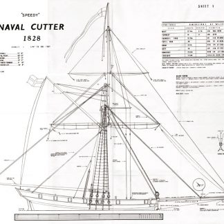 Naval Cutter Speedy 1828 ship model plans