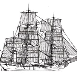 HM Bark Endeavour ship model plans