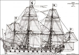 Frigate Friedrich Wilhelm zu Pferde ship model plans