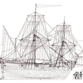 La Belle 1684 ship model plans