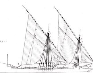 Galley La Dracene 1675 ship model plans