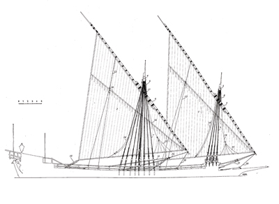 Galley La Dracene 1675 ship model plans