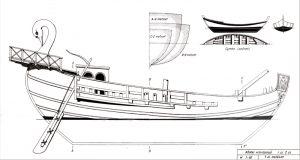 Roman trading vessel BC II ship model plans