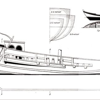 Roman trading vessel BC II ship model plans