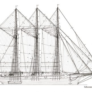 Schooner Santa Eulàlia 1918 ship model plans