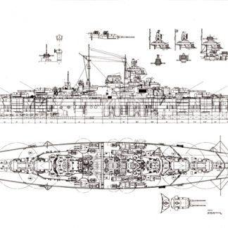Tirpitz German battleship model plans