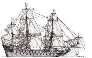 Wasa 1626-1628 warship model plans