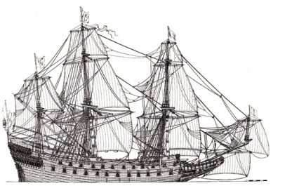 Wasa 1626-1628 warship model plans