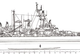 USS Washington (BB-56) battleship plans