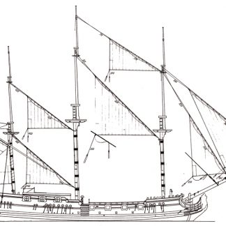 Royal Caroline ship model plans