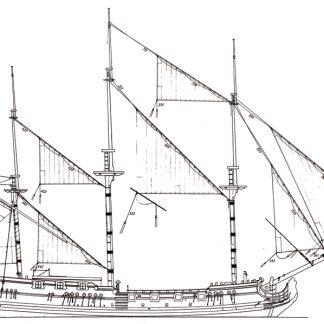 Royal Caroline ship model plans