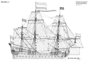 Zeven Provinciën (1643-1659) ship model plans