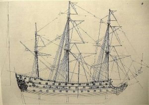 1st Rate Ship HMS Prince 1670 ship model plans