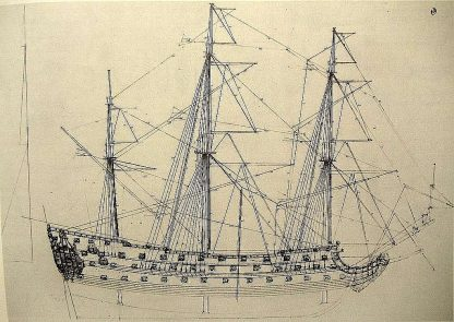 1st Rate Ship HMS Prince 1670 ship model plans