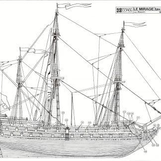 1st Rate Ship Le Mirage 17c ship model plans