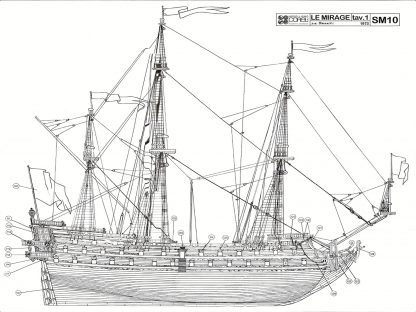 1st Rate Ship Le Mirage 17c ship model plans