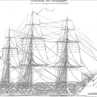 1st Rate Ship Montebello 1812 ship model plans