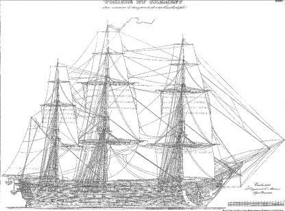 1st Rate Ship Montebello 1812 ship model plans