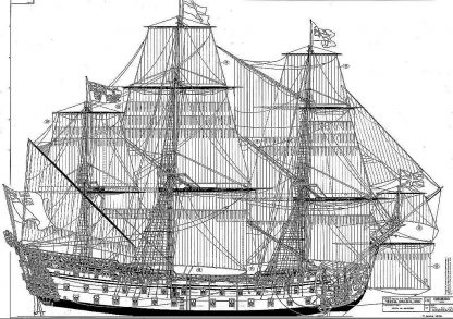 1st Rate Ship Ms Royal William 1719 (Euromodel) ship model plans