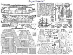 1st Rate Ship Paris 1849 ship model plans