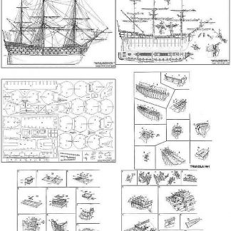1st Rate Ship Royal Louis 1780 ship model plans