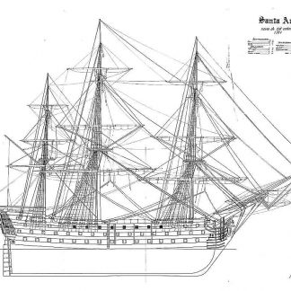 1st Rate Ship Santa Ana 1784 ship model plans