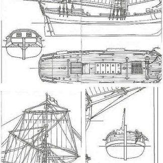 3rd Rate Ship HMS Albion 1763 ship model plans