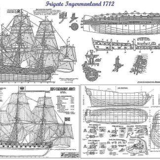 3rd Rate Ship Ingermanland 1715 ship model plans