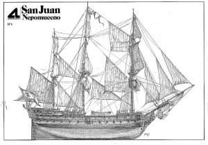 3rd Rate Ship San Juan Nepomuceno 1765 ship model plans