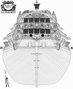 3rd Rate ship Le Feuron 1729 ship model plans