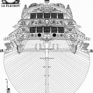 3rd Rate ship Le Feuron 1729 ship model plans